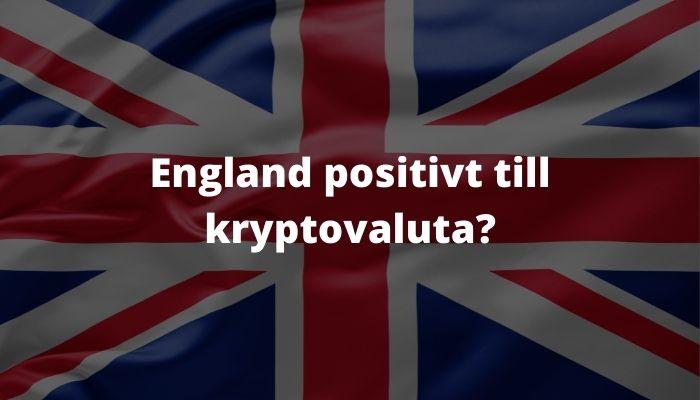 England positiv till kryptovaluta